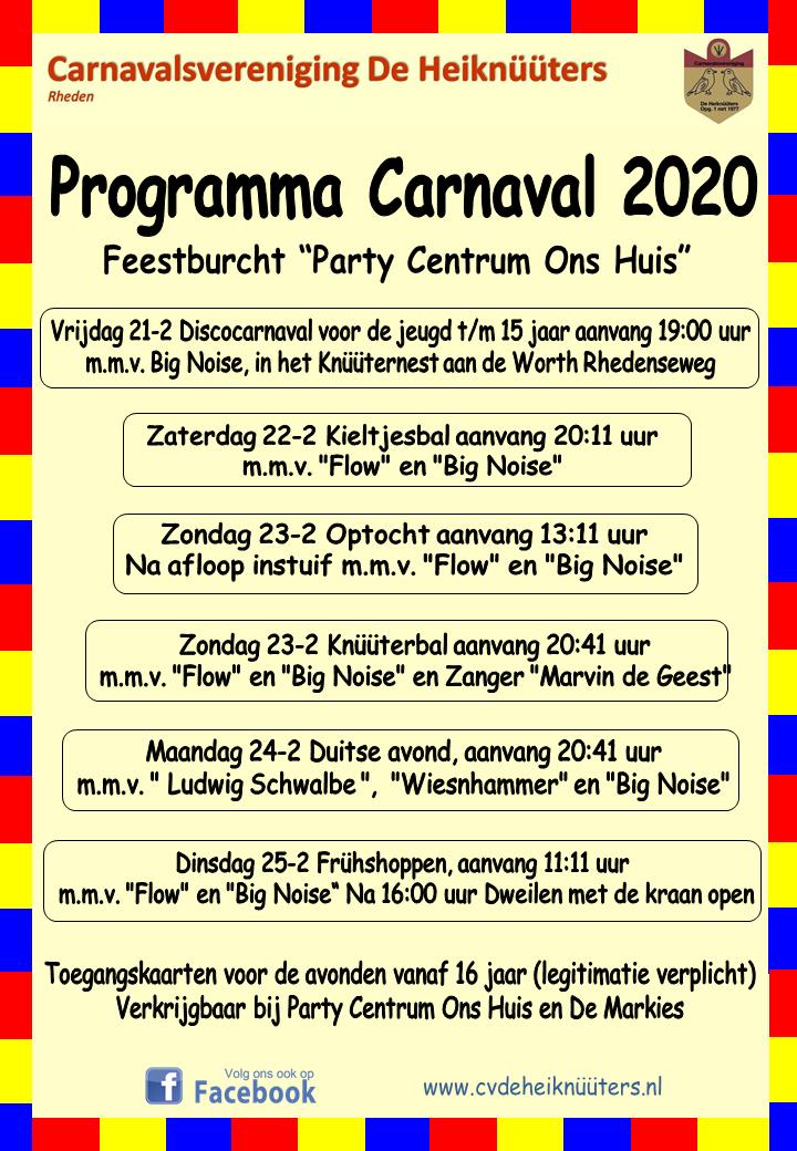 Programma Carnaval 2020